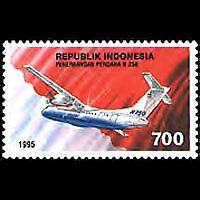 Indonesia #1610 N250 Turboprop First Flight MNH CV$2