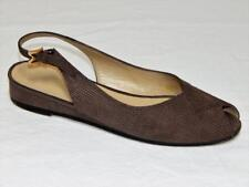 "BRUNO MAGLI Hand Made in Italy Women's Beige Peep Toe Sandals Size 6 B, 1"" Heels"