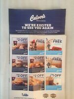 CULVERS 1 SHEET 9 COUPONS EXP 9/20/2020