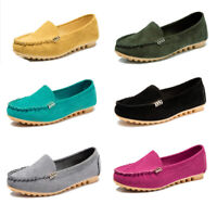 Women's Leather Loafers Flats Casual Round Toe Breathable Sneakers Driving Shoes