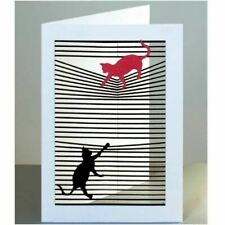 Forever Laser-cut Card - Cats on a Blind All Occasion Card