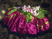 GIRLS MONSTER HIGH PINK & GREEN PETTI SKIRT TUTU COSTUME DRESS. One Size