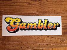 """Gambler"" sprintcar decal / sticker - suit speedway collector"