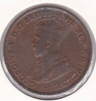 CB1458) Australia 1923 Halfpenny fine, 6 pearls visible. Traces of lustre