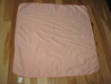 Carters Baby Blanket White Cotton Recieving Blanket Polka Dot Peach Orange