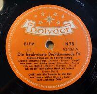 """Die beschwipste Drahtkommode IV - Polydor /10"""" 78 RPM"""