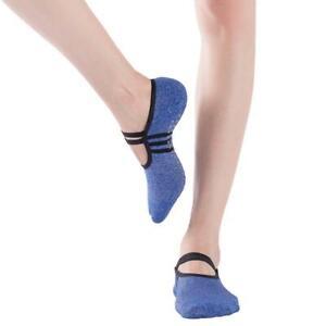 Ladies Women Sports Pilates Yoga Non-Slip Grip Socks Slipper Straps JA