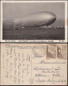 AK Zeppelin LZ 127 in Rio de Janeiro Brasilien 1930