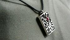 Sterling Silver and Ruby Art Nouveau Pendant