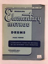 """""""Rubank Elementary Method for Drums"""" Drum Instructional Book by Paul Yoder"""