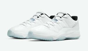Nike Air Jordan 11 Retro Low White / Legend Blue Mens SZ 10 Style: AV2187-117