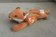 Very Rare Retired 1996 TY Beanie Baby Fox Sly Multiple Errors PVC , No Stamp ETC