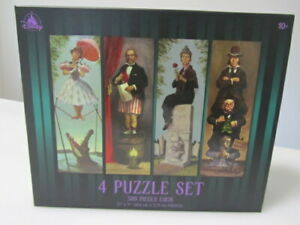 Disney Parks The Haunted Mansion 4 Puzzle Set Stretching Room Portrait 500pc New