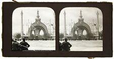 Exposition universelle de Paris 1900 Porte Monumentale Plaque stéréo