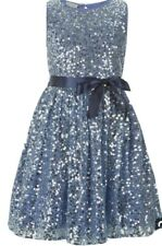 Monsoon Children Evelina Sequin Dress Blue Girls Age 7 Bnwt Special Occasions
