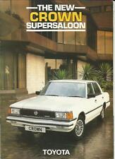 TOYOTA CROWN SUPER SALOON SALES BROCHURE 1982