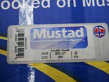 25 Pack Mustad 3551-DT Size 4 Duratin Saltwater Treble Hooks 3551DT-04