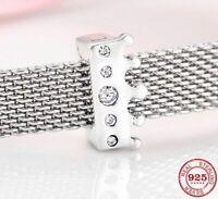 Reflexion Clip für Pandora Charm Armband Echt Silber 925 Prinzessin Krone Zirkon