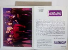 Star Trek Fan Club Kit 1987 Photo Patch & Member Card NM+ & 5 Movie Promo Flyers