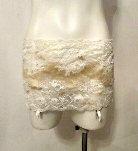 NWT Victoria's Secret Sexy Bling Garter Skirt Built-In Thong V-G String Panty L