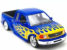 Ford F-150 Flareside Pick-up Lowrider 1998 Bleu Modèle de Voiture 1 24 / Welly