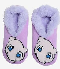 Pokemon Go Socks Mew Cozy Fluffy Faux Fur Lined Slipper Socks Anti Slip NWT!
