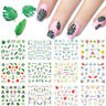 Nail Water Decals Flower Maple Leaves Slider Transfer Nail Art Stickers Tips DIY