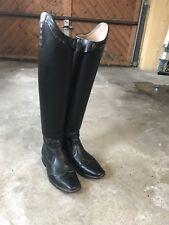 dressurstiefel Leder, Gr. 38, hoher, schmaler Schaft