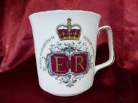 1977 Royal Grafton Queen Elizabeth II SILVER JUBILEE CHINA MUG (1) Memorabilia
