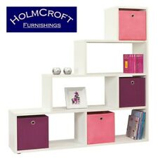 Room Divider, Kids Storage, White Bookcase, Step Down. DVD/CD/BOOK Shelves Unit
