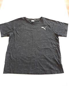 Puma Logo TShirt Black Mens Athletic Tee Size XL RN62200