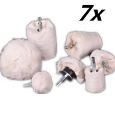 7x Metal Glass Polishing Pad Kit Buffing Wheel Roller for Car Polisher Tool 6mm
