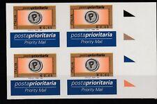 FRANCOBOLLI - 2004 REPUBBLICA PRIORITARIA € 0,60 IN QUARTINA VARIETA' MNH Z/9677