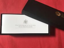 RARE 2013 RM 30th ANNIV di Royal Arms SILVER PROOF 3 X £ 1 Uno Pound Coin Set