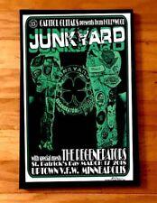 Junkyard rare Concert Gig Poster Signed Glam Rock GnR Mpls La Guns Punk Ac/Dc