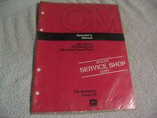 11842 John Deere Operators Manual 1600M Series Mounted Chisel Plow