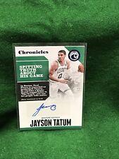 JAYSON TATUM, 2017-18 Chronicles RC Autograph, SP #13/99, BOSTON CELTICS #CA-JTT
