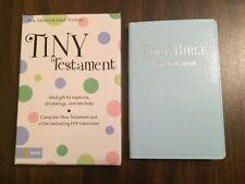*Free Personalization* NIV Tiny New Testament - Blue Leatherlook - Baby Bible