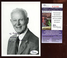 Bud Wilkerson Autographed 5 X 7 Personalized Photo Jsa