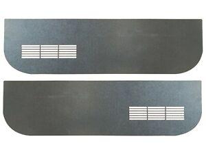 1975-1986 Chevrolet C10 Laser Cut Black ABS Plastic Door Panel Inserts w/ Vents