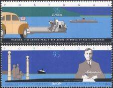 Portugal 1995 Europa/Peace/Freedom/Car/Ships/Transport/WWII 2v set (n45692)