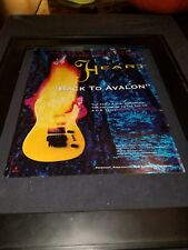 Heart Back To Avalon Rare Original Radio Promo Poster Ad Framed!