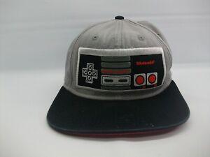 Nintendo Controller NES Hat Black Gray Small Snapback Baseball Cap