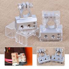 2pcs Silver 2 4 8 Gauge Positive & Negative Car Battery Terminal Clamp Connector