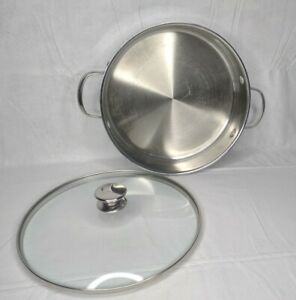"""Wolfgang Puck Cookware 11"""" Casserole Stainless Steel 18-10 Pan With Lid"""