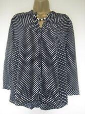 Hugo Boss black and white polka dot blouse/top size 8 (36)