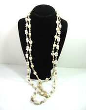 Pair of SEASHELL Vintage  NECKLACES Cowrie & Cone Shape Sea Shells Set