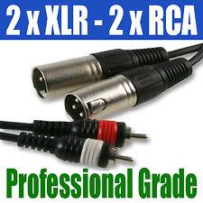 Double 1,5 m | 2 x xlr male plug to 2 x rca phono | 263