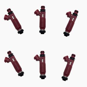 Set (6) Fuel Injectors Replace #23250-46070 for Toyota Crown 1JZGTE 2.5L