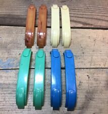 Lot Of 8 Vintage Colored Plastic Door / Drawer Handles Pulls - Unbranded